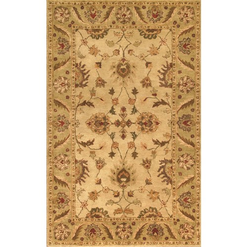 Noble House Golden Collection Rug in Beige / Light Green -