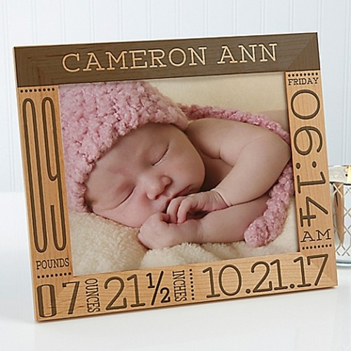 Baby Love Birth Info 8-Inch x 10-Inch Picture Frame