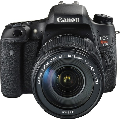 Canon - EOS Rebel T6s DSLR Camera with EF-S 18-135mm IS STM Lens - Black