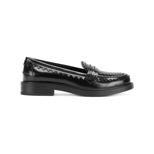 shark tooth trim loafers