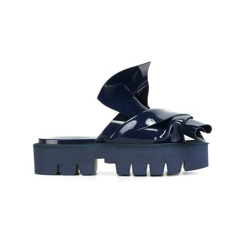 knotted slider sandals
