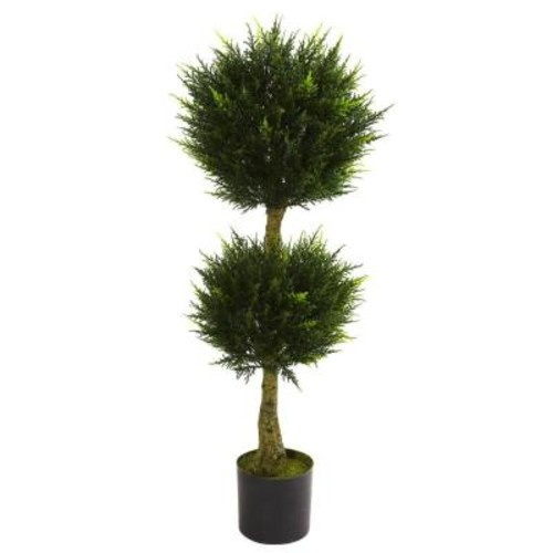 Nearly Natural 4 ft. UV Resistant Indoor/Outdoor Double Ball Cypress Topiary