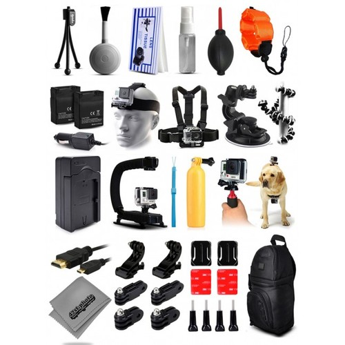 37Pcs Must Have Accessory Bundle Kit Package for GoPro Hero4 Action Camera