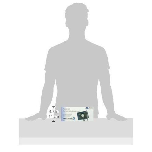 Mabis Precision Series Aneroid Sphygmomanometer Manual Blood Pressure Monitor, Cuff Size 16.1 to 24.2 inches, Thigh