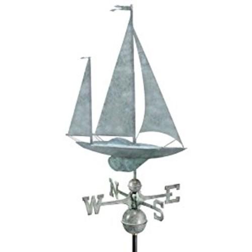 Good Directions Yawl Weathervane, Blue Verde Copper