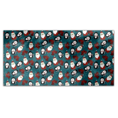 Santas Little Helper Rectangle Tablecloth