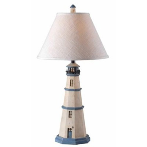 Kenroy Home Nantucket Table Lamp in Antique White