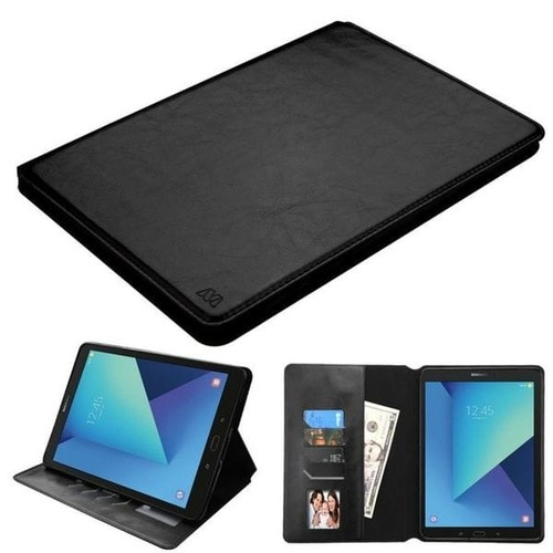 Insten Black Leather Case Cover with Stand/ Photo Display For Samsung Galaxy Tab S3 9.7