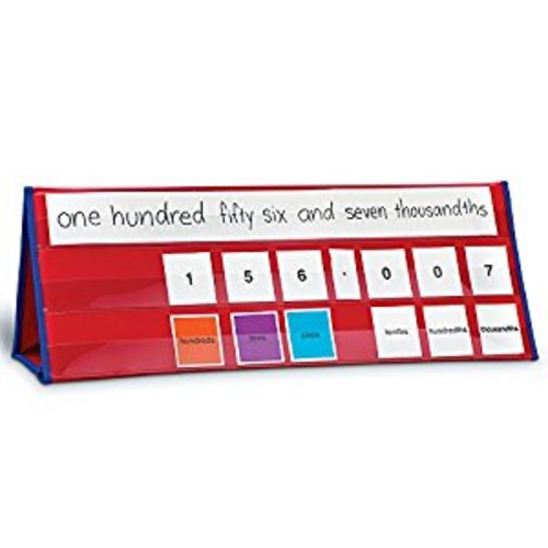 Learning Resources Place Value Tabletop Pocket Chart (LER321 Multi-Colored