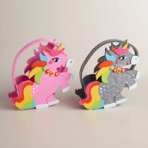 Felt Unicorn Container Set of 2