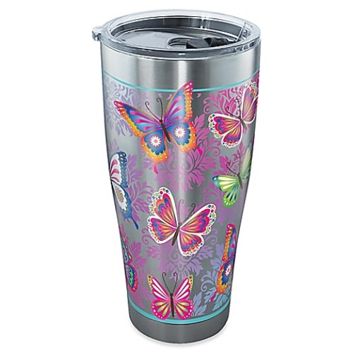 Tervis Butterfly Motif 30-Ounce Stainless Steel Tumbler with Lid