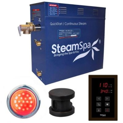 SteamSpa Indulgence 4.5kW QuickStart Steam Bath Generator Package in Polished Oil Rubbed Bronze