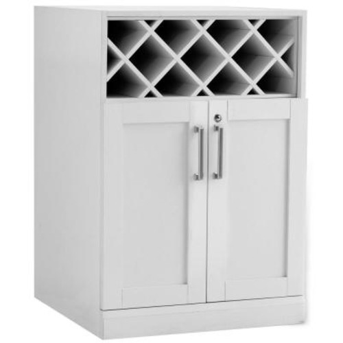 Age Products Home Bar White 24 in. Wine Storage Cabinet