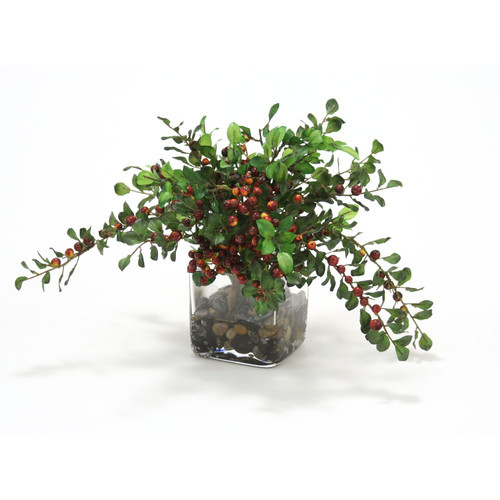Distinctive Designs Waterlook Faux Berries with Silk Foliage in Vase
