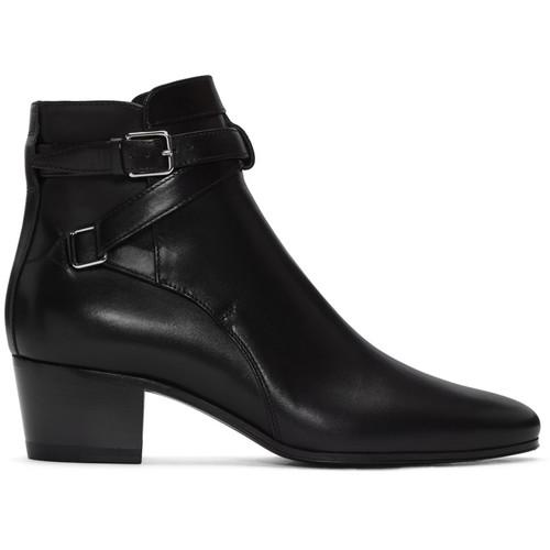 SAINT LAURENT Black Blake Jodhpur Boots