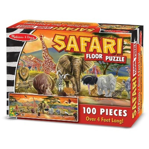 Melissa & Doug African Plains Safari Jumbo Jigsaw Floor Puzzle (100pc, over 4 feet long)