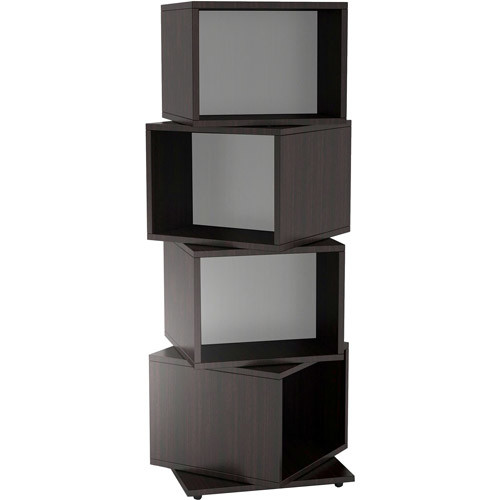 Atlantic Rotating Cube 216 Disc Media Tower In Espresso - 216 x CD, 144 x DVD, 168 x Blu-ray - 4 Compartment(s) - Compartment Size 8