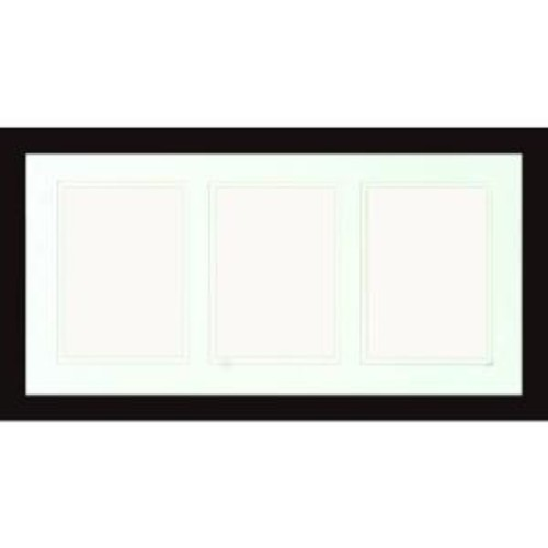 PTM Images 3-Opening Holds (3) 5 in. x 7 in. Matted Black Photo Collage Frame (Set of 2)
