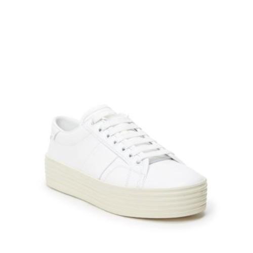 SAINT LAURENT Court Classic Leather Double-Sole Sneakers
