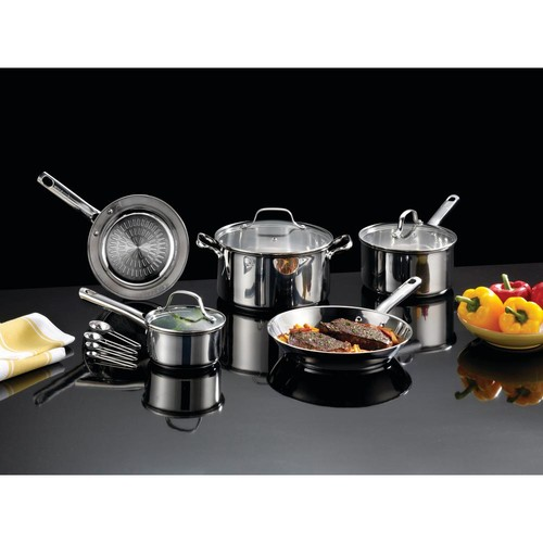 T-Fal Performa Stainless Steel 12-Piece Cookware Set with Techno Release