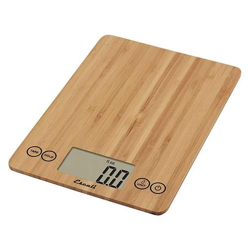 Escali ECO157 Arti Digital Kitchen Scale 15Lb/7Kg, Bamboo [Natural Bamboo]