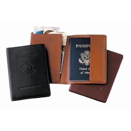 Royce Debossed Leather Passport Holder