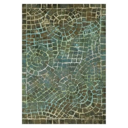 Liora Manne Visions V Arch Tile Blue Area Rug