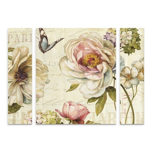 Trademark Fine Art Lisa Audit 'Marche de Fleurs IV' Small Multi-panel Canvas Art Set