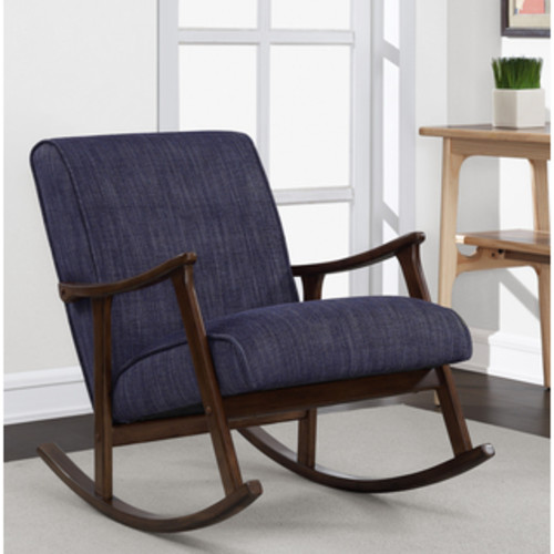 Safavieh Outdoor Living Vernon Brown/ Navy Rocking Chair