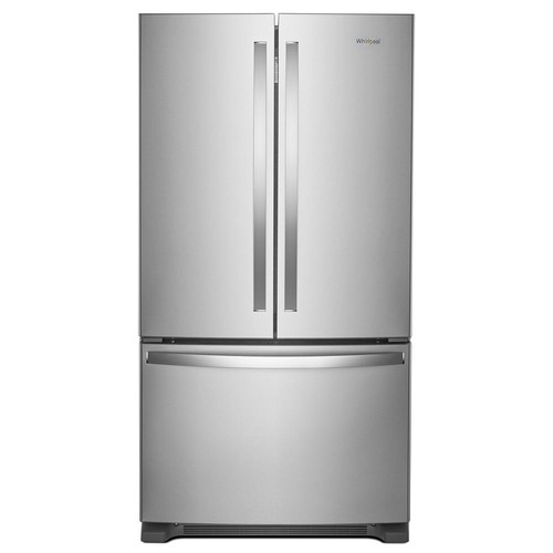 Whirlpool 36 in. W 25.0 cu. ft. French Door Refrigerator in Fingerprint Resistant Stainless Steel
