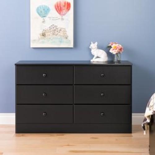 Prepac Bella 6-Drawer Dresser, Black