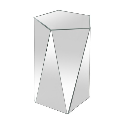 Pentagonal Mirrored Accent Table