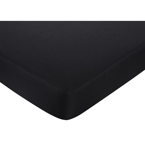Sweet Jojo Designs Isabella Hot Pink, Black and White Collection Fitted Crib Sheet - Solid Black