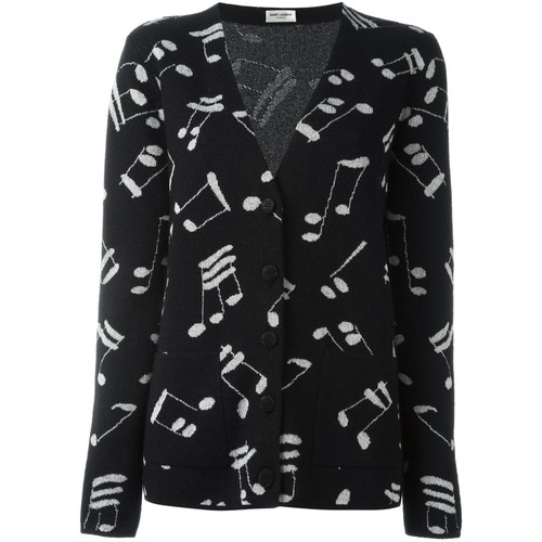 SAINT LAURENT Music Note Printed Cardigan