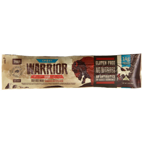 Tanka Onnit Warrior Bar Buffalo Meat Cranberries and Pepper Blend -- 2 oz