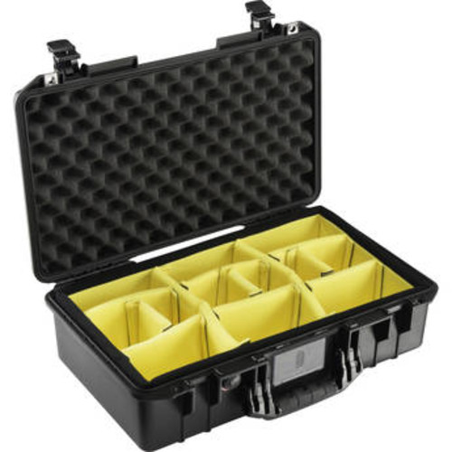 1525 AirWD Carry-On Case (Black, with Dividers)