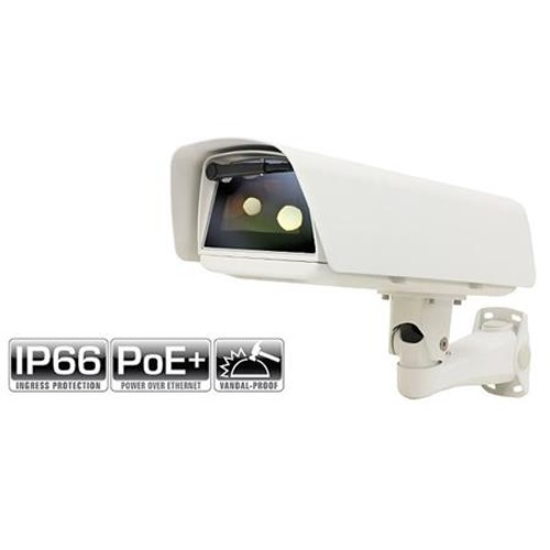 VS-H60-SHBDWP Weatherproof POE Plus Housing with Sunshield, Heater, Blower, Defroster, Wiper, and PoE Plus for IP Cameras
