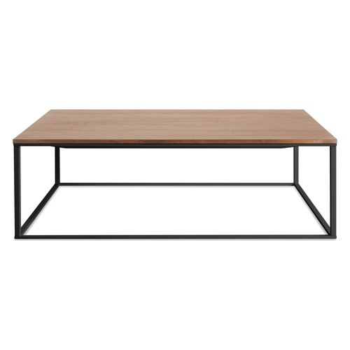 Minimalista Square Coffee Table [Base\/Table Top : Black \/ Walnut]