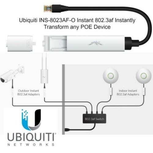 Ubiquiti INS-8023AF-I 802.3AF Passive PoE to 802.3AF Indoor Adapter