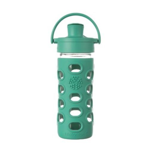 Lifefactory 12oz Glass Active Flip Cap Water Bottle - Kale