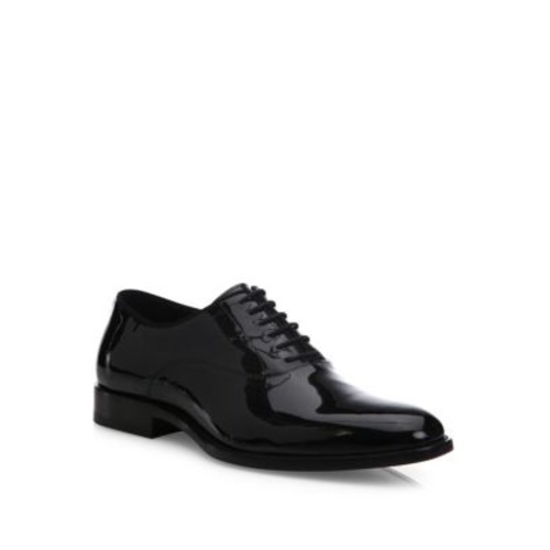 SAINT LAURENT Dylan Patent Calfskin Leather Oxfords