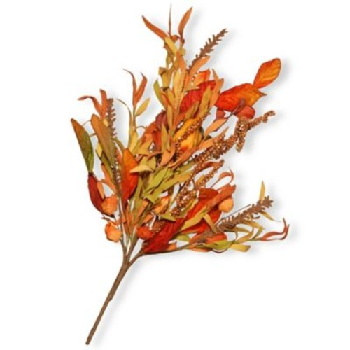 National Tree Company 22-Inch Maple Leaf Spray in Red