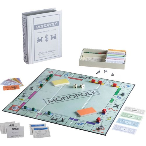 Winning Solutions - Vintage Bookshelf Edition Monopoly Game