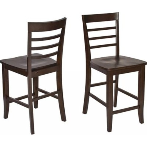 OSP Designs Jamestown Wooden Pub Stools and Table, Espresso