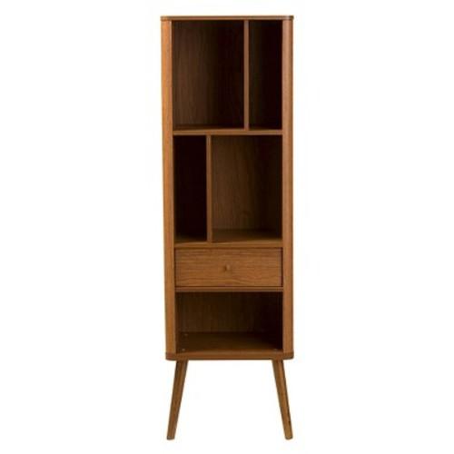 Ellingham Mid-century Retro Modern Sideboard Storage Cabinet Bookcase Organizer - Walnut - Baxton Studio