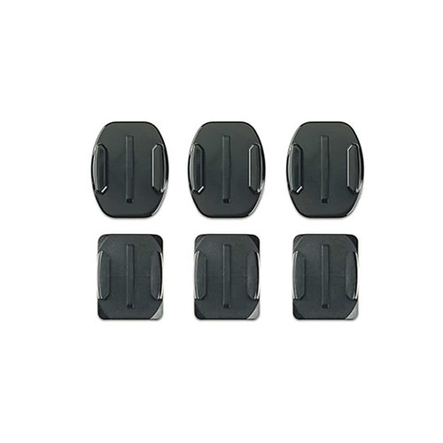 GoPro Flat + Curved Adhesive Mounts, 3 of Each, For All GoPro Cameras AACFT-001