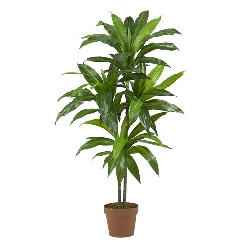 Nearly Natural Real Touch 48 in. H Green Dracaena Silk Plant