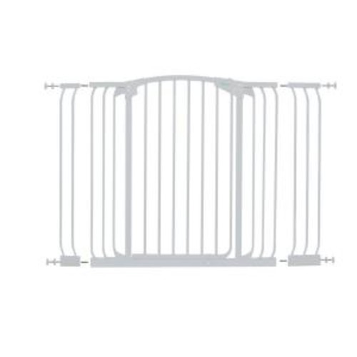 Dreambaby Chelsea 40 in. H Extra Tall and Extra Wide Auto-Close Security Gate in White with Extensions