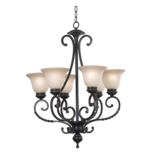 Kenroy Home Oliver 6-Light Chandelier in Bronze