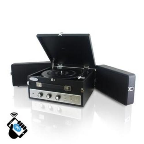 Pyle PLTT82BTBK Retro Vintage Classic Style Bluetooth Turntable - Black